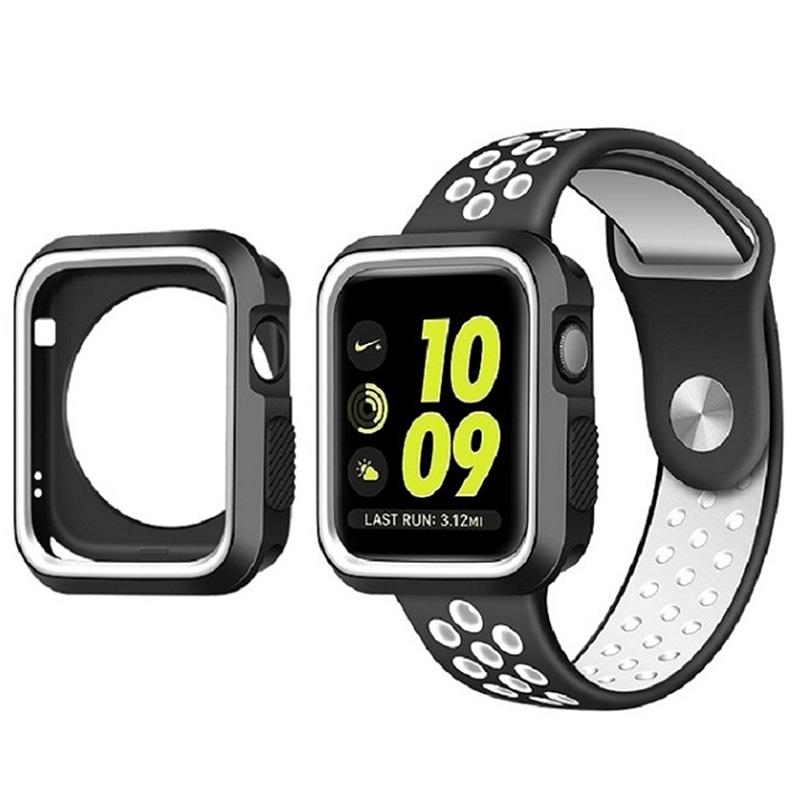 Pouzdro SPORT na Apple Watch 42mm Series 1, 2, 3 - Černo-bílé