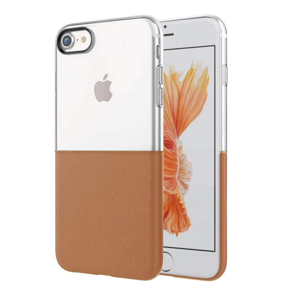 Elegantní kryty DOUBLE pro mobily Apple iPhone - pro iPhone 7 (hnědý)