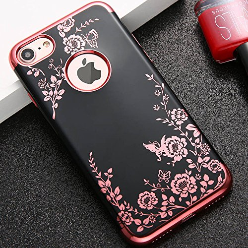 Pouzdro iMore Flower Garden na iPhone 6s 6 - černé 3ef7ffb657b