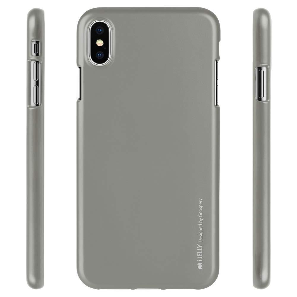 Pouzdro Goospery i-Jelly Metal iPhone XS MAX - Šedé