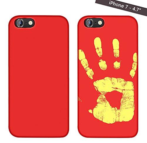 Magické kryty THERMAL měnící barvu pro Apple iPhone - 7, červený