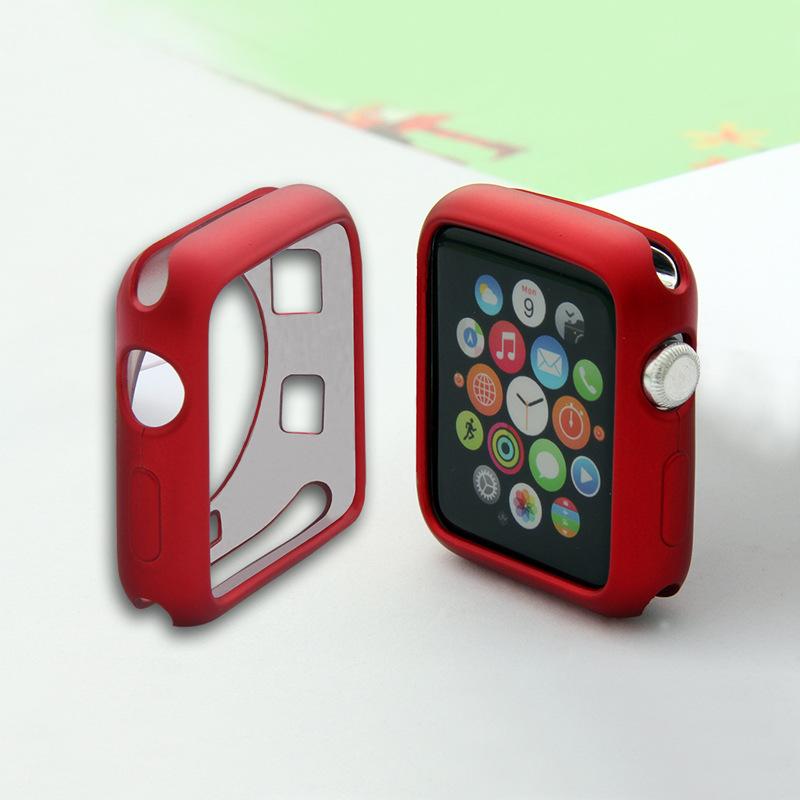 Silikonový obal Jelly Metal na Apple Watch 42mm Series 1, 2, 3 - Červený