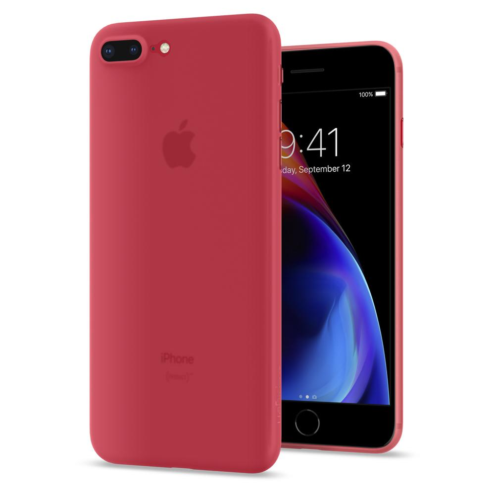 Ochranný obal SPIGEN Air Skin pro Apple iPhone 8 Plus / 7 Plus - Red