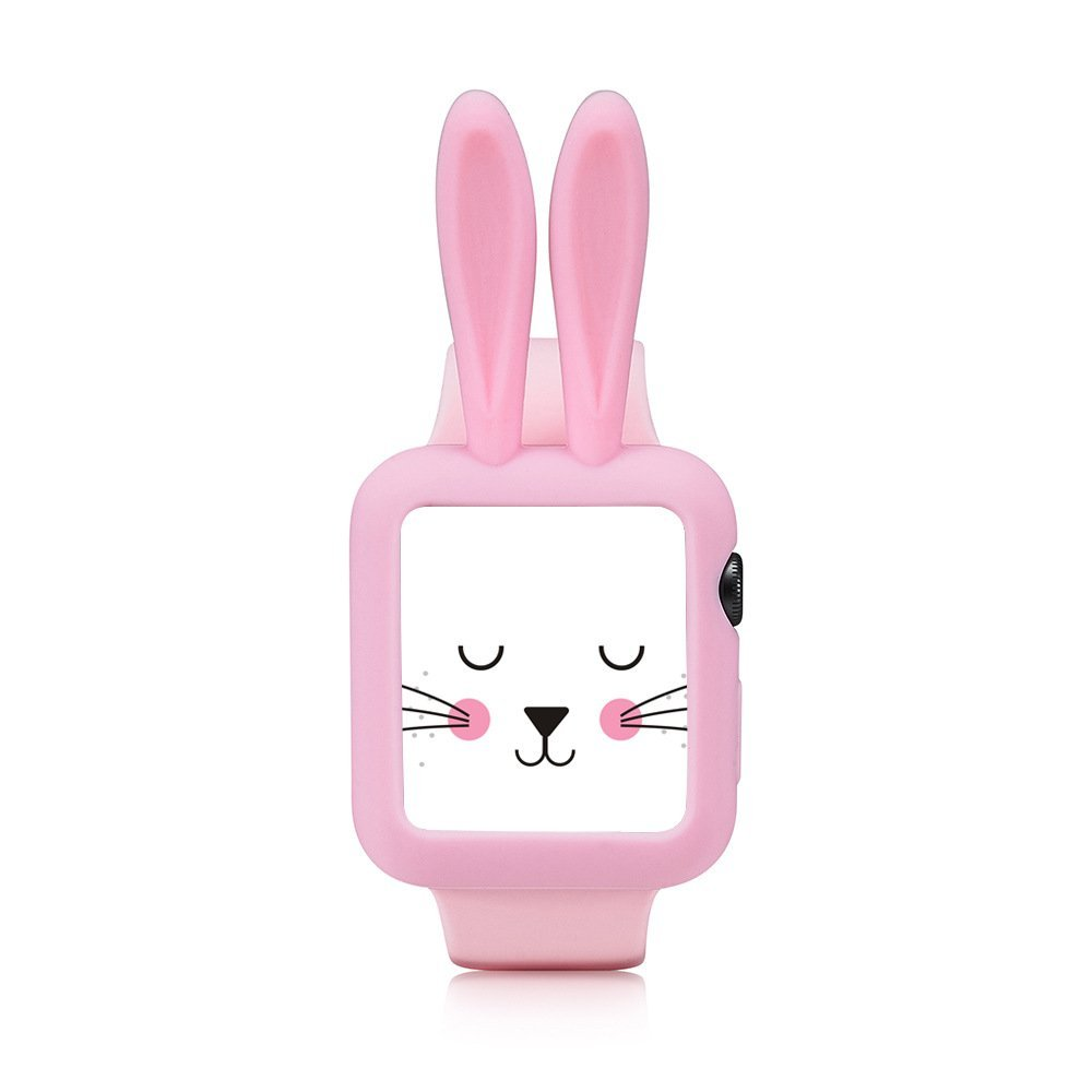 Obal Cartoon Rabbit na Apple Watch 42mm Series 1, 2, 3 - Růžový