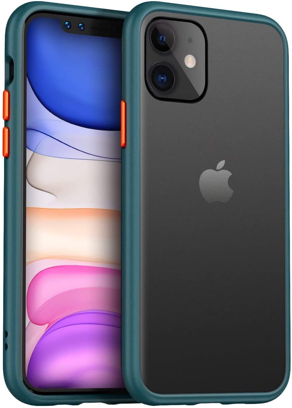 Vennus Color Button Bumper iPhone 11 Pro - Smrkově zelený