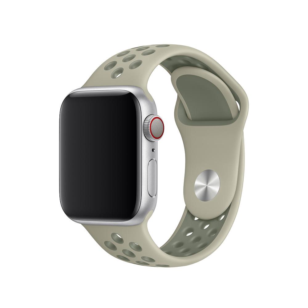 Řemínek SPORT pro Apple Watch Series 3/2/1 38mm - Smrkově/Lišejníkově šedý