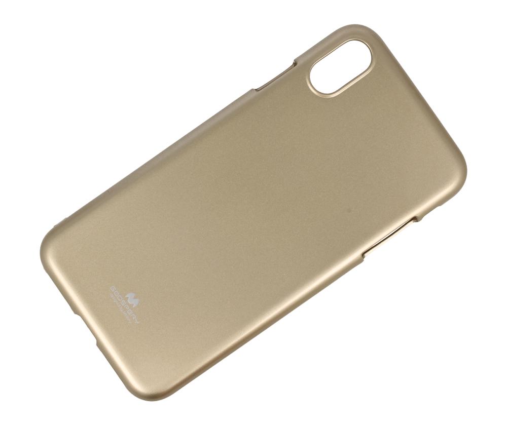 Pouzdro Mercury Pearl Jelly Case iPhone XS MAX - Zlatý