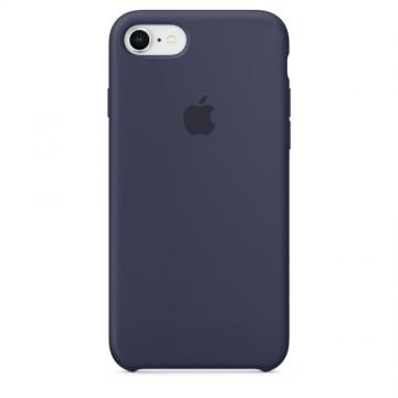Originální silikonové pouzdro Apple iPhone 8 / 7 - Půlnočně modré