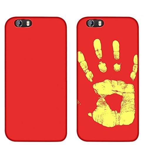Magické kryty THERMAL měnící barvu pro Apple iPhone - 6s / 6, červený