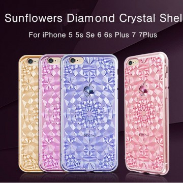 Kryt 3D Flowers & Crystals pro iPhone SE / 5s / 5