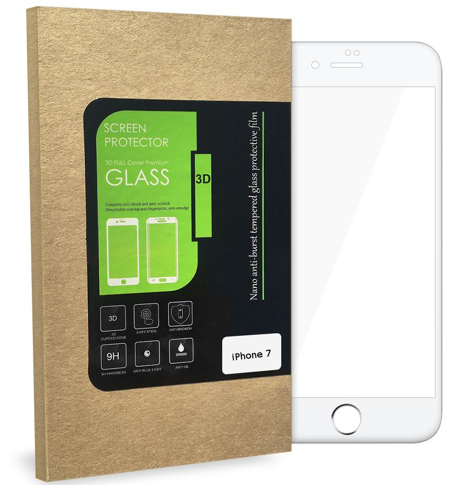 3D Tvrzené sklo MagicGLASS na iPhone 7 (bílé)