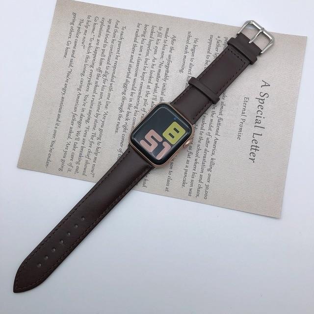 Řemínek Single Tour pro Apple Watch Series 3/2/1 (38mm) - Temně hnědý