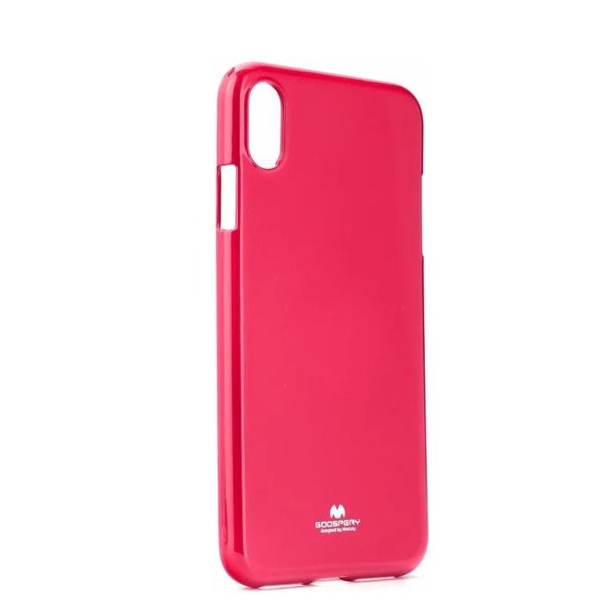 Pouzdro Mercury Pearl Jelly Case iPhone XS MAX - Tmavě růžový