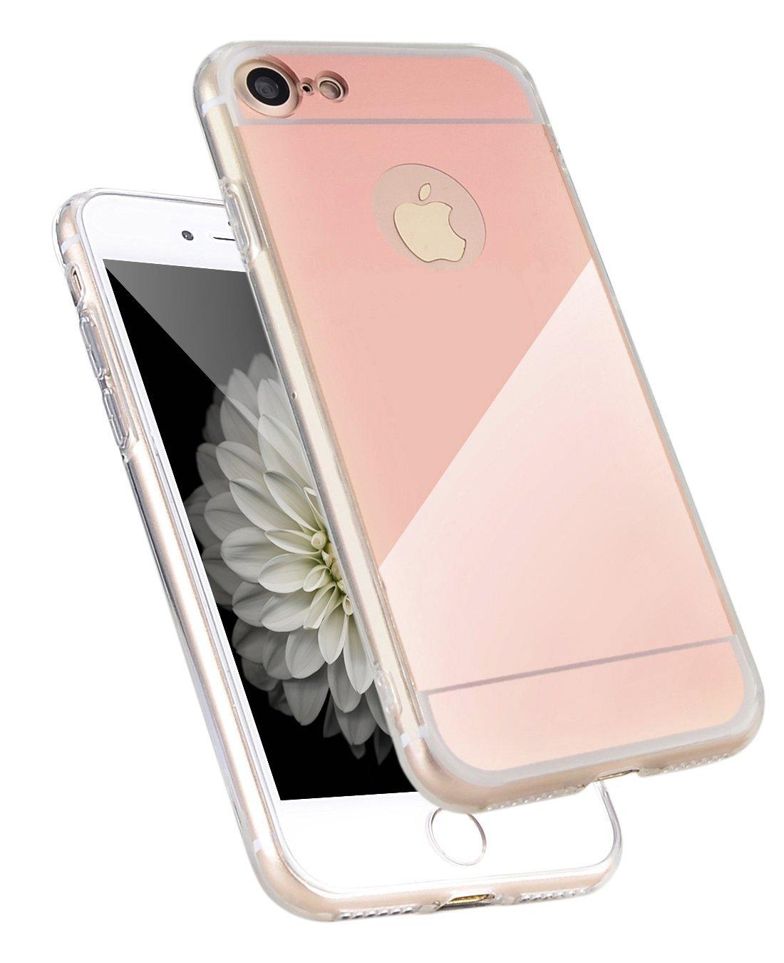 Zrcadlový kryt My Mirror pro iPhone 7 - Růžově zlatý (rose gold)