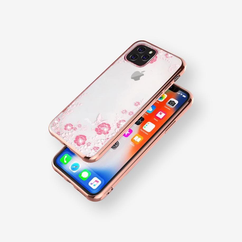 Pouzdro Forcell Diamond Case iPhone 11 Pro Max - Růžově zlatá