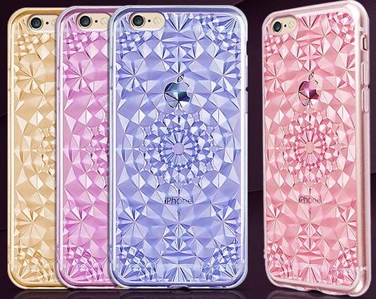 Kryt 3D Flowers & Crystals pro Apple iPhone 6s / 6