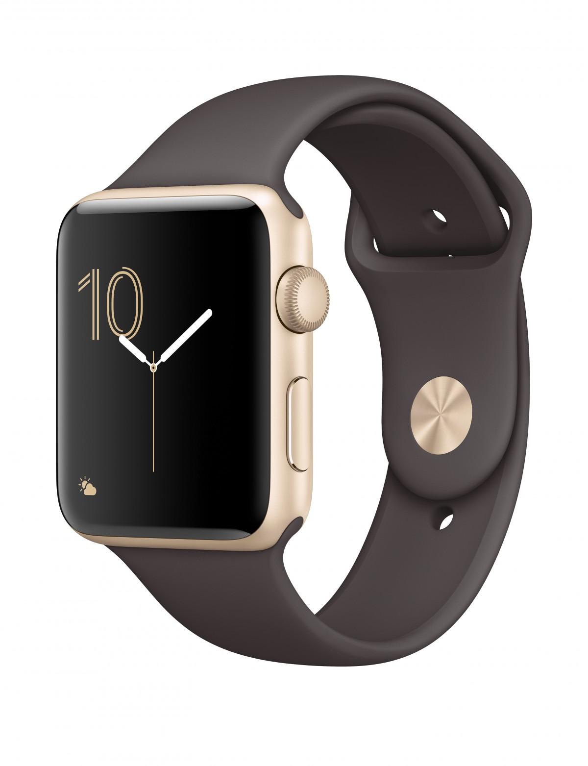 Řemínek SmoothBand pro Apple Watch Series 3/2/1 42mm - Kakaově hnědý