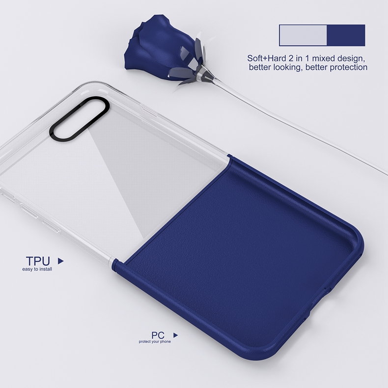 Elegantní kryty DOUBLE pro mobily Apple iPhone - pro iPhone 7 Plus (modrý)