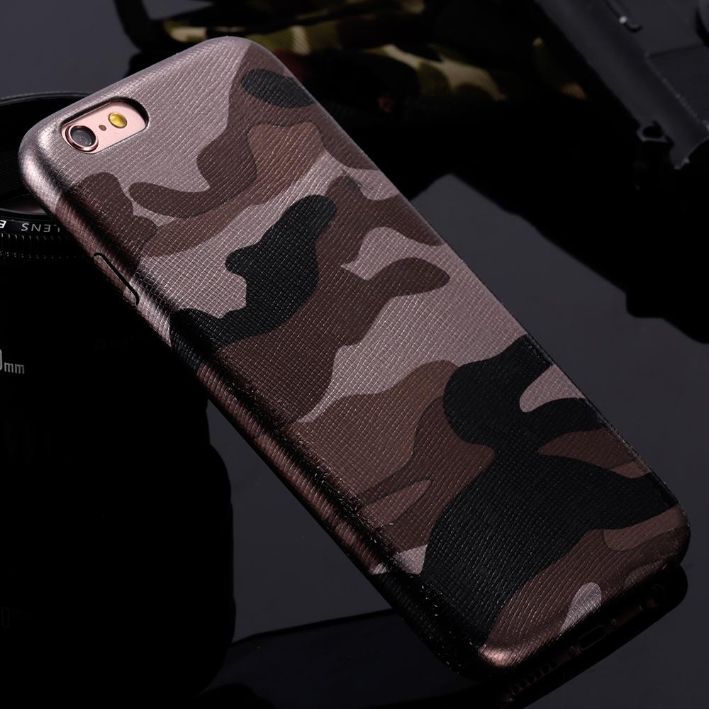 Kryt Army Camouflage pro iPhone 6s Plus / 6 Plus - Hnědý