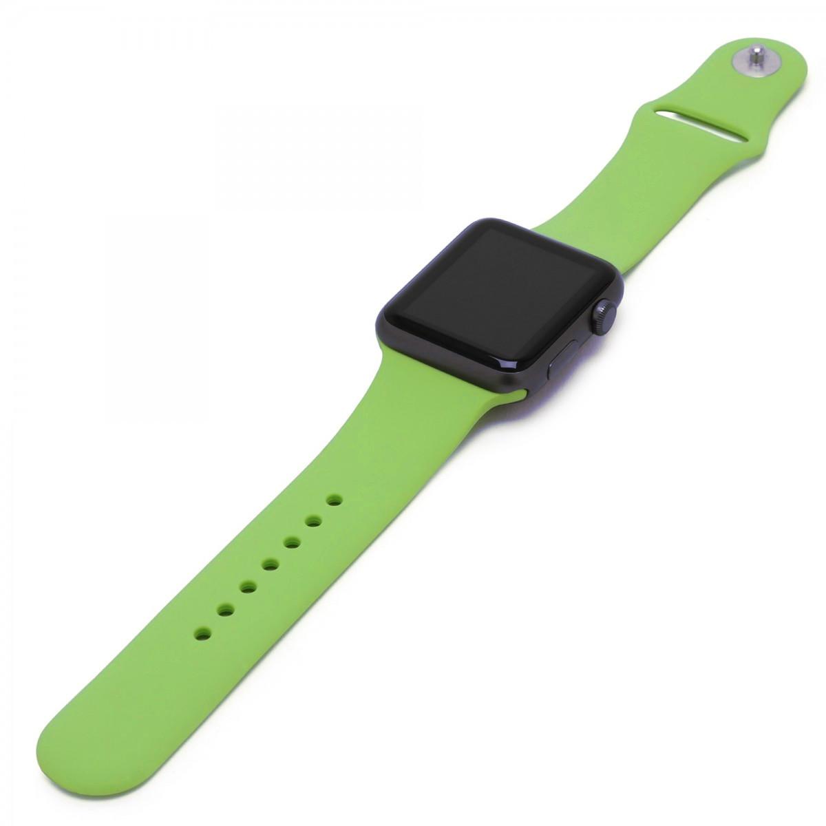 Řemínek SmoothBand pro Apple Watch Series 3/2/1 42mm - Avokádově zelený