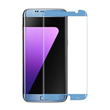 3D Ochranné sklo CASE FRIENDLY na celý displej pro Galaxy S7 Edge - Modré