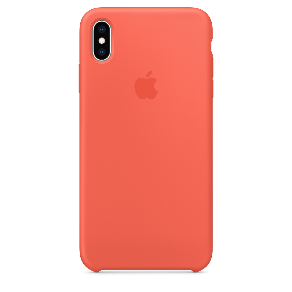 Pouzdro Apple Silicone Case iPhone Xs Max - nektarinkové