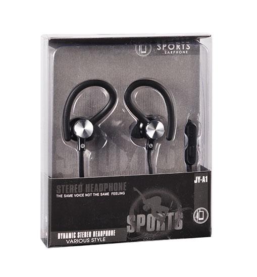 Sportovní sluchátka Tel1 SPORT JY-A1 - Černé