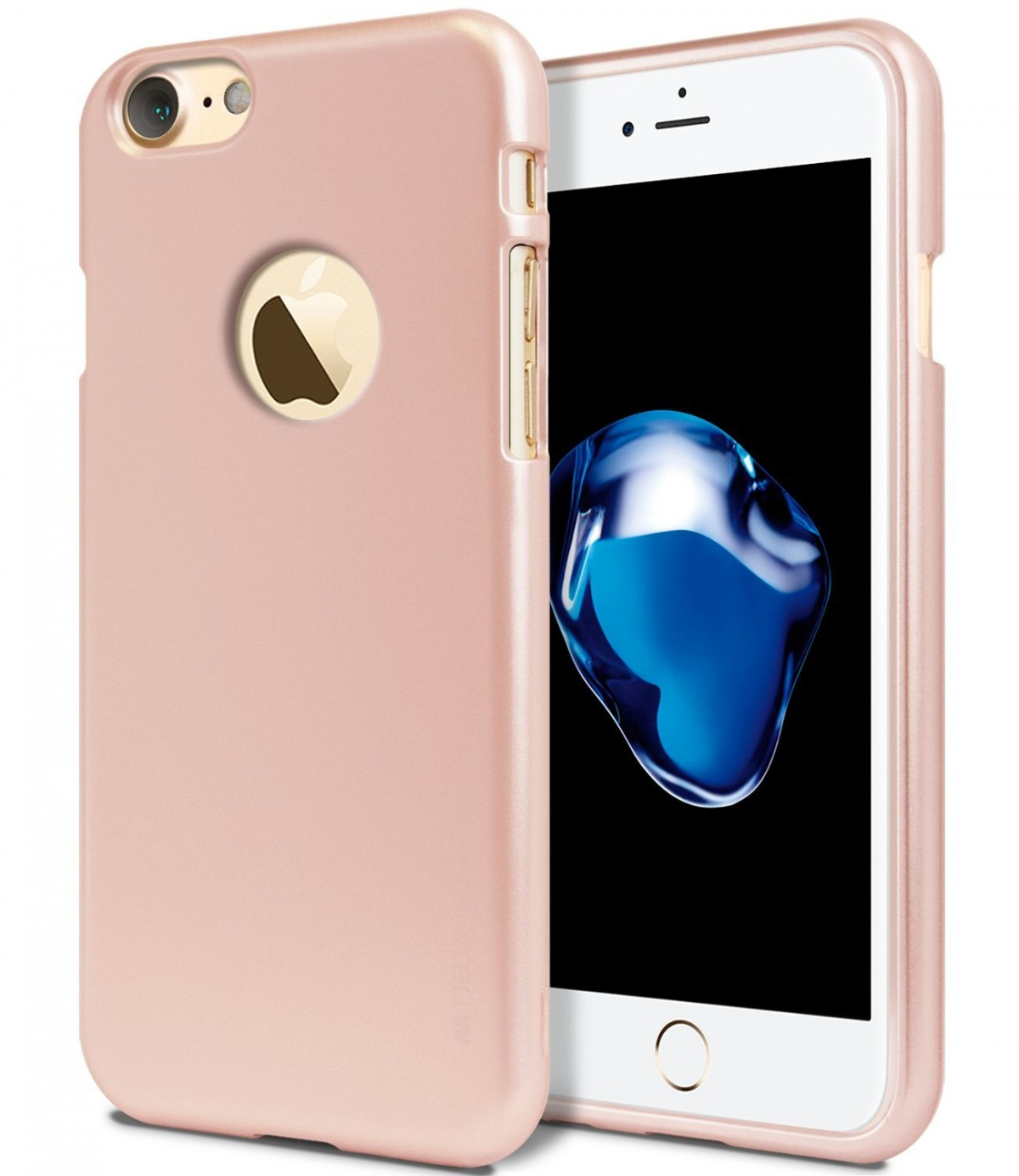 Tenké silikonové obaly / kryty Goospery Mercury pro Apple iPhone 7 - iJelly Metal - Rose Gold
