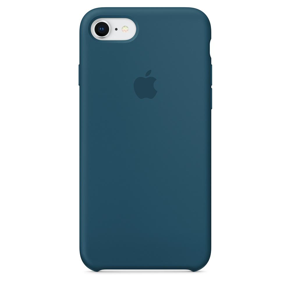 Originální silikonový kryt Apple na iPhone 8 / 7 - Vesmírně modrý