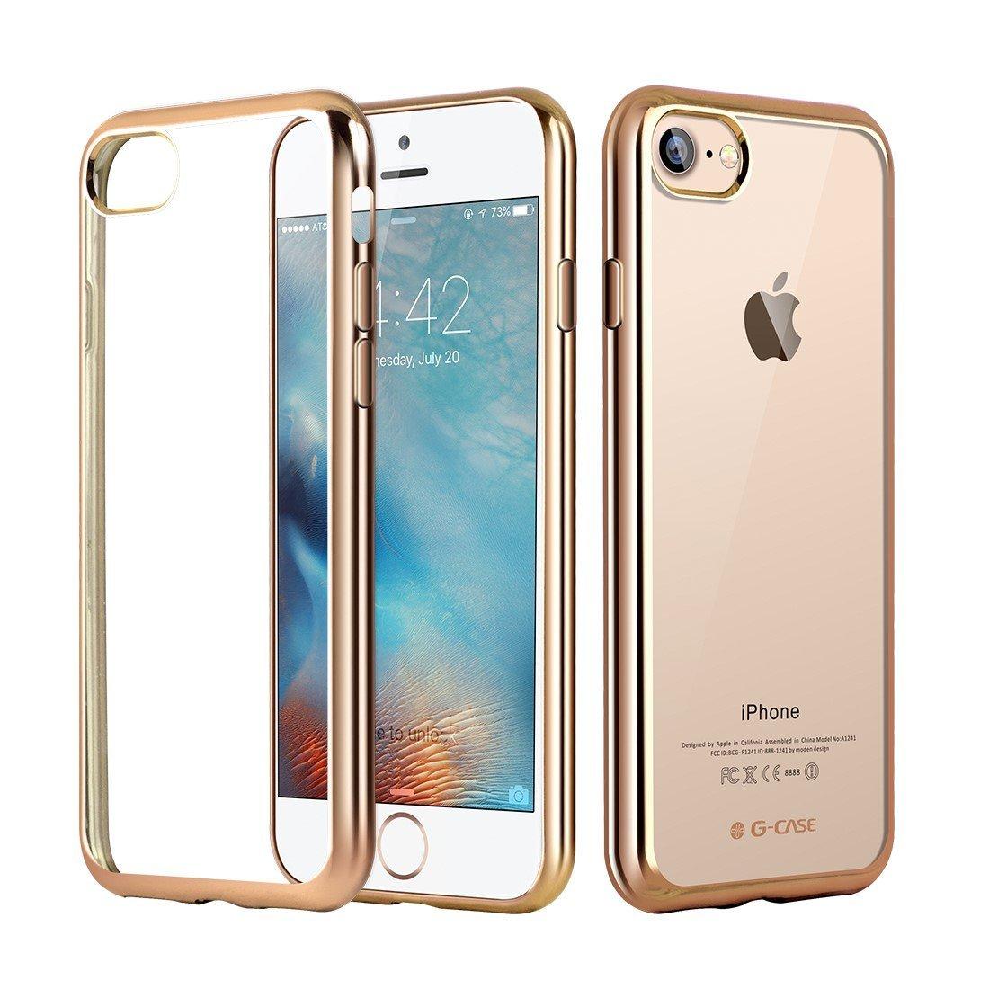 Elegantní obal / kryt RING pro Apple iPhone 7 - Zlatý / Gold