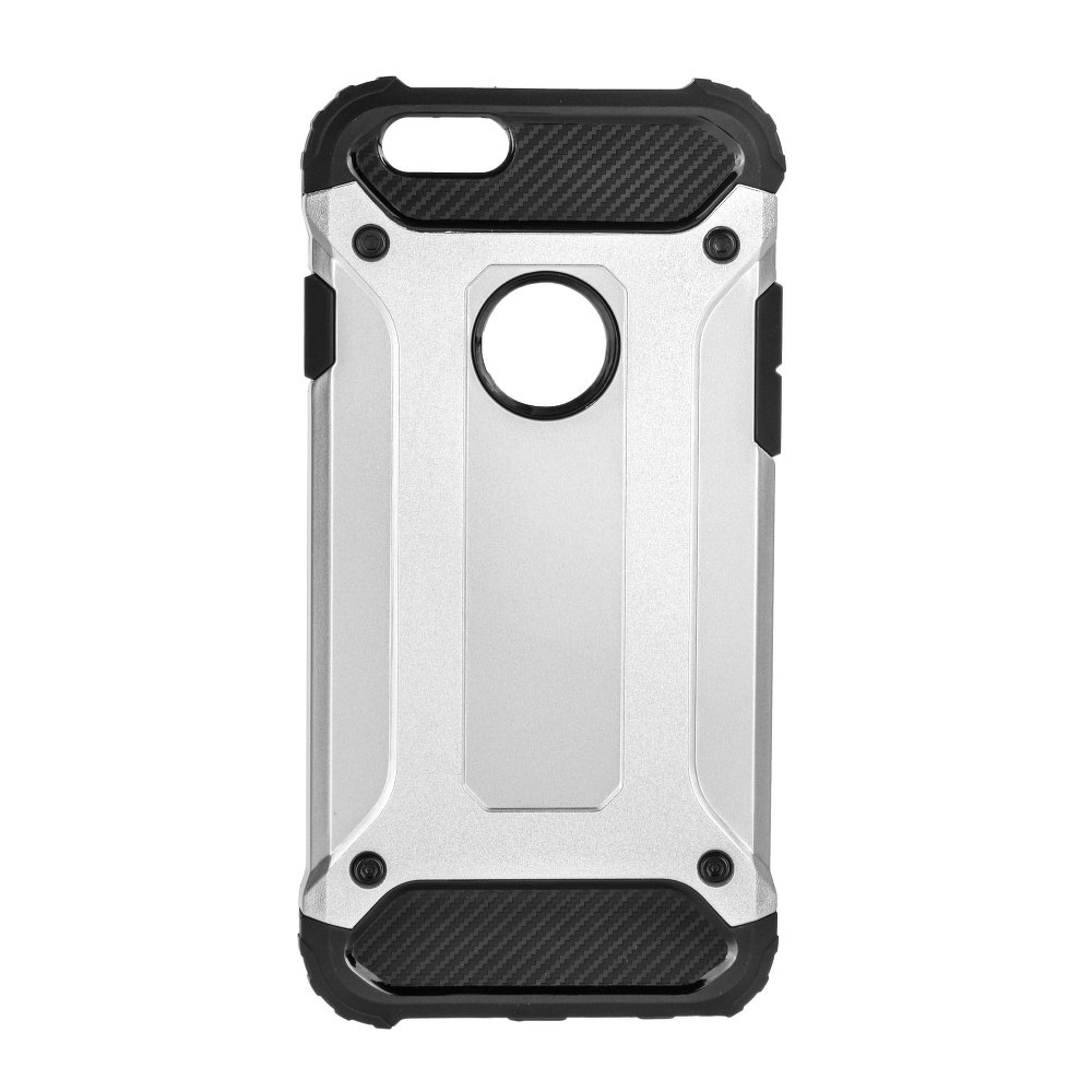 Pouzdro Forcell Armor Case Apple iPhone SE / 5s / 5 - Stříbrné