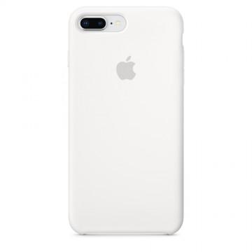 Originální silikonové pouzdro Apple iPhone 8 Plus / 7 Plus - Bílé