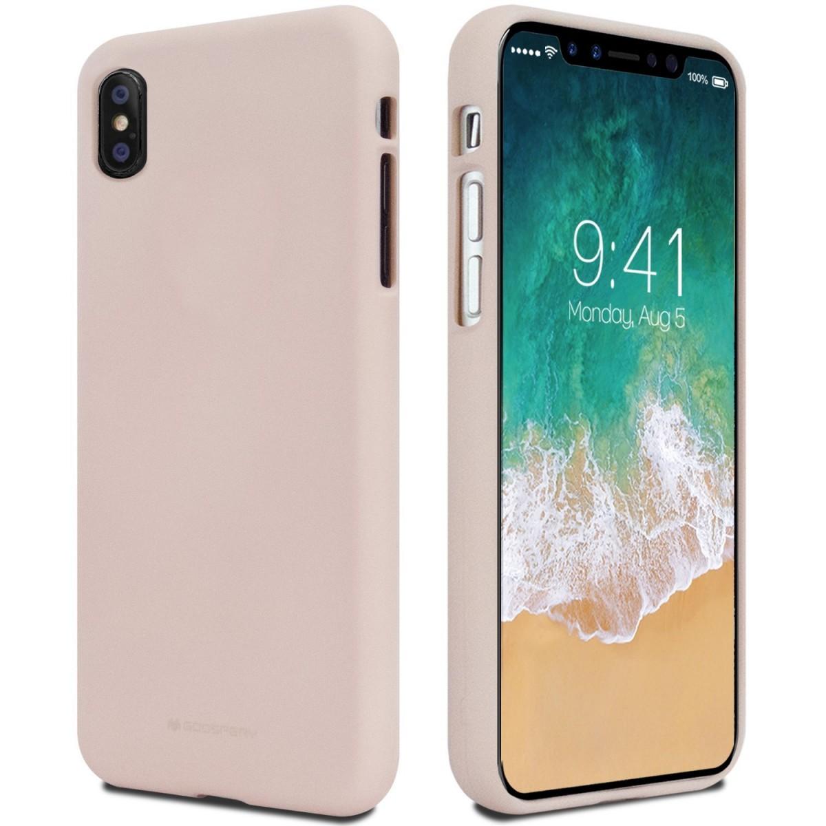 Pouzdro Mercury Soft Feeling pro Apple iPhone Xs/X - Pískově růžový