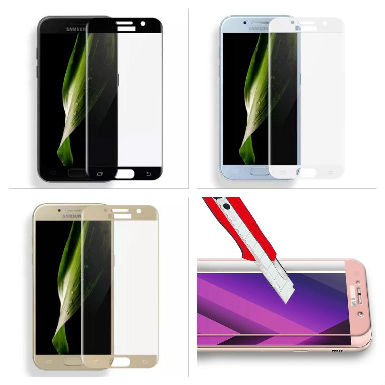 3D ochranné sklo Carbon Fiber na displej Samsung Galaxy A7 (2017)
