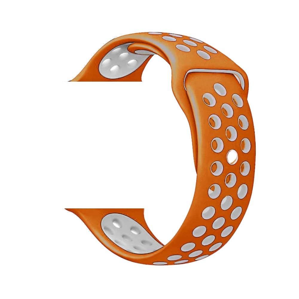 Řemínek SPORT pro Apple Watch Series 3/2/1 38mm - Oranžový/Šedý