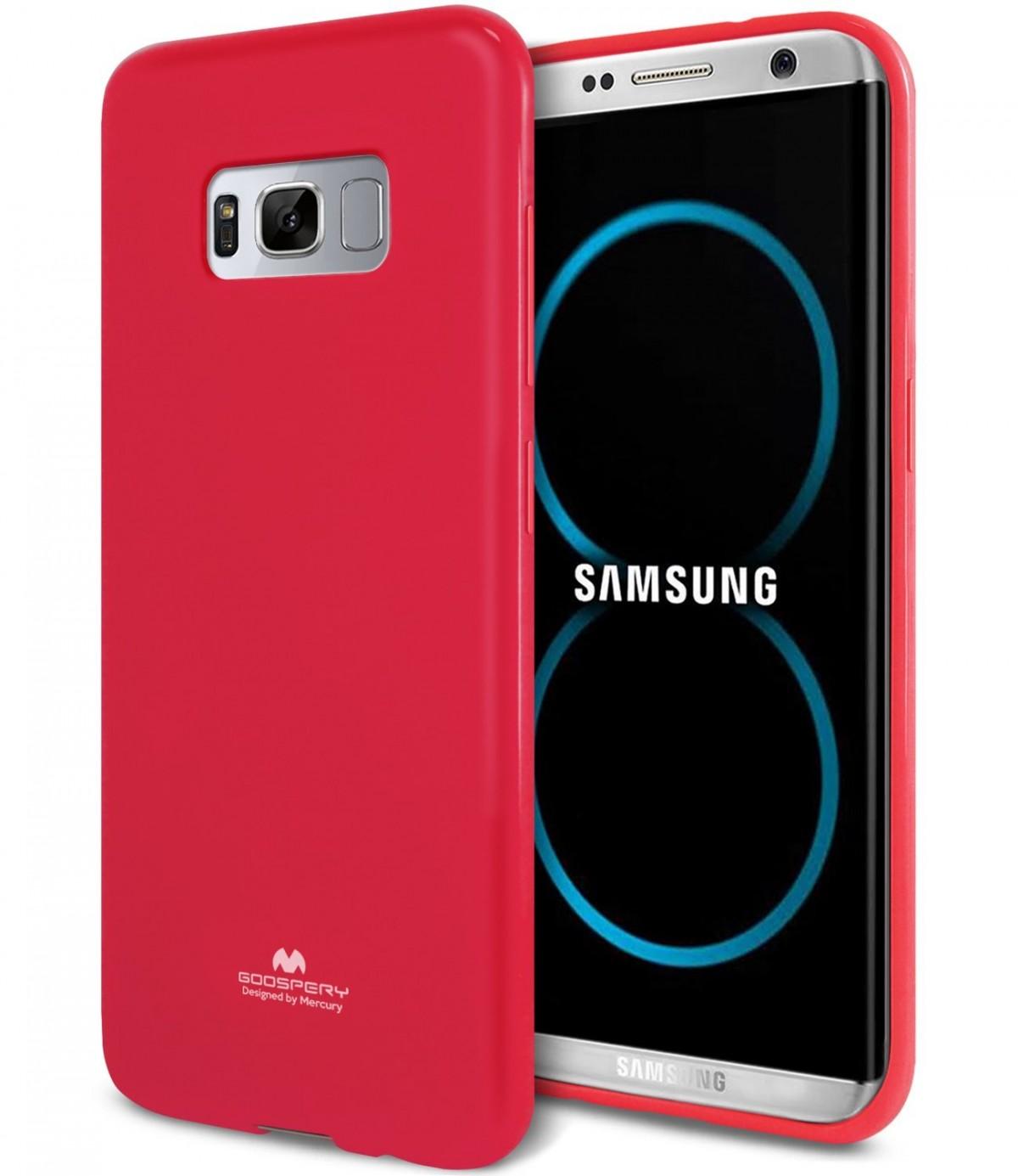 Silikonové barevné kryty Goospery Mercury pro Samsung Galaxy S8+ - Jelly Case - Tmavě růžový