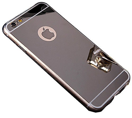 Zrcadlový kryt My Mirror pro iPhone 6s / 6 - Černý (black)