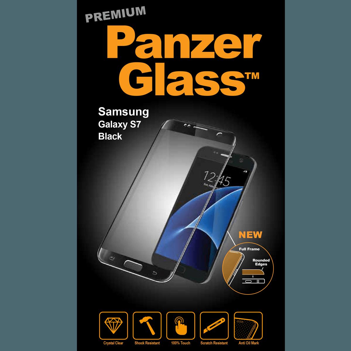 Ochranné sklo PanzerGlass PREMIUM Full Frame na Samsung Galaxy S7 - ČERNÉ