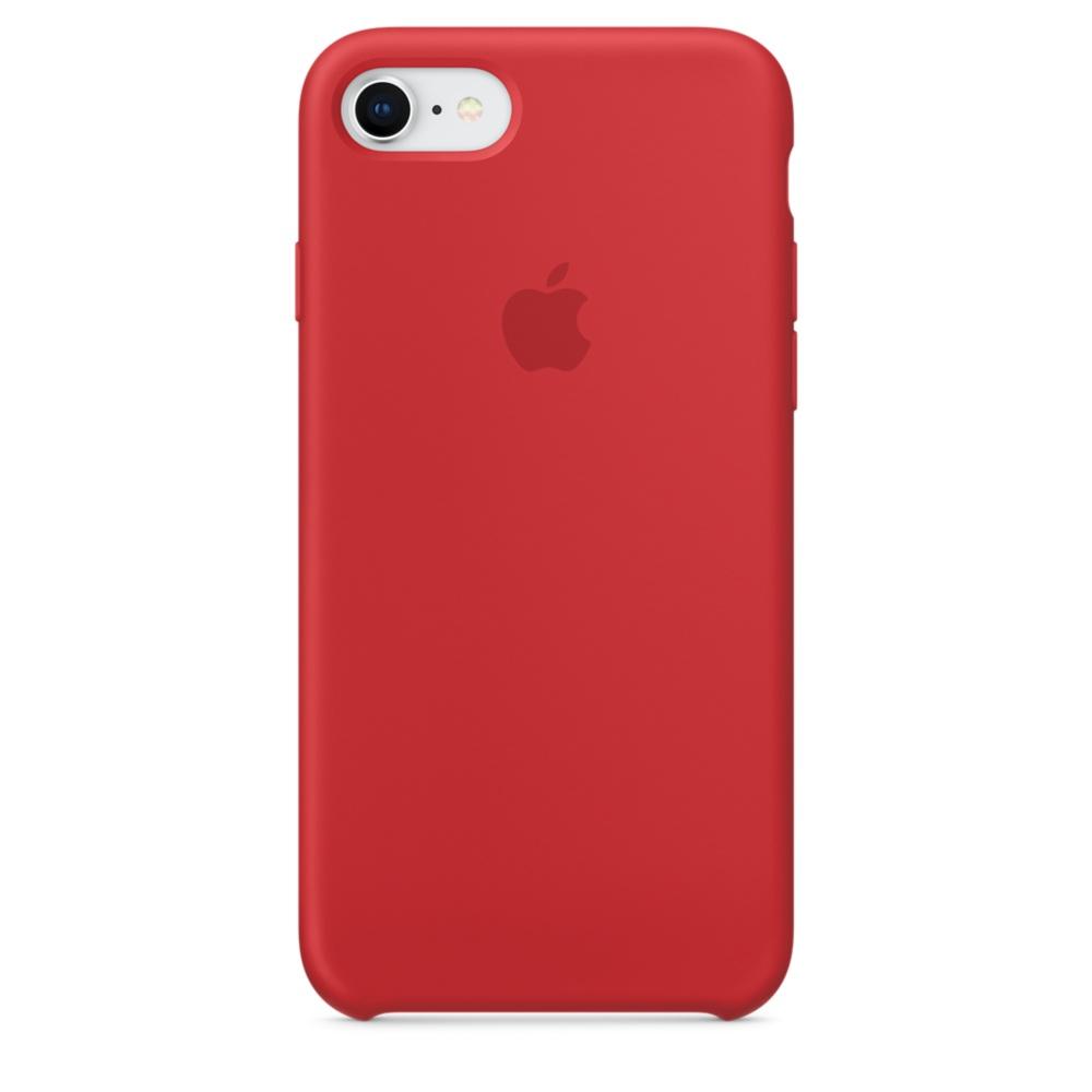 Pouzdro Apple Silicone Case iPhone 8/7 červené