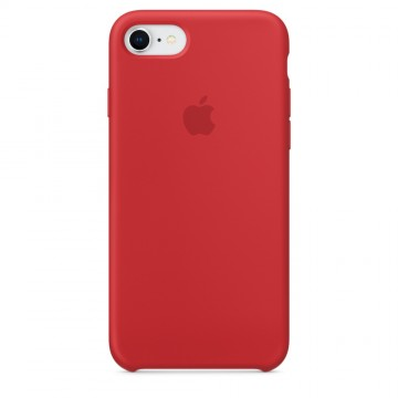 Originální silikonové pouzdro Apple iPhone 8 / 7 - Červené