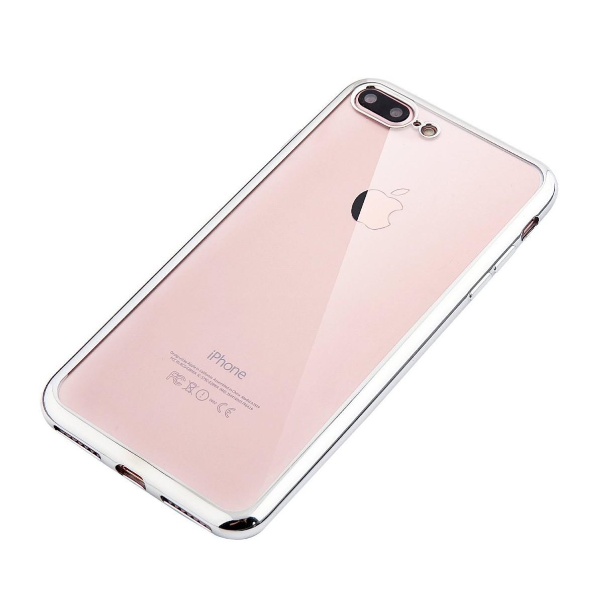 Elegantní obal / kryt RING pro iPhone 7 Plus - Stříbrný (silver)