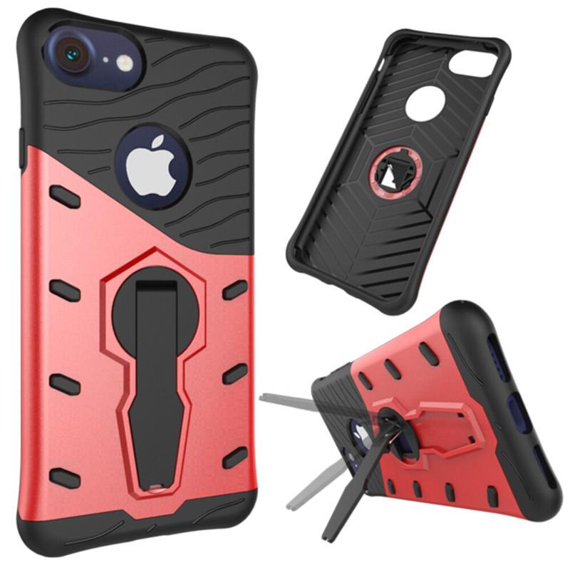Velmi odolný kryt SNIPER se stojánkem pro Apple iPhone 7 - Červený