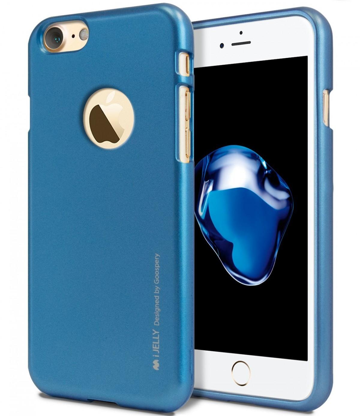 Silikonový kryt iJelly Metal Goospery Mercury Apple iPhone 8 / 7 - Modrý