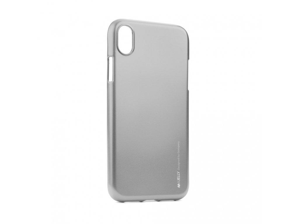 Pouzdro Goospery i-Jelly Metal iPhone XR - Šedý