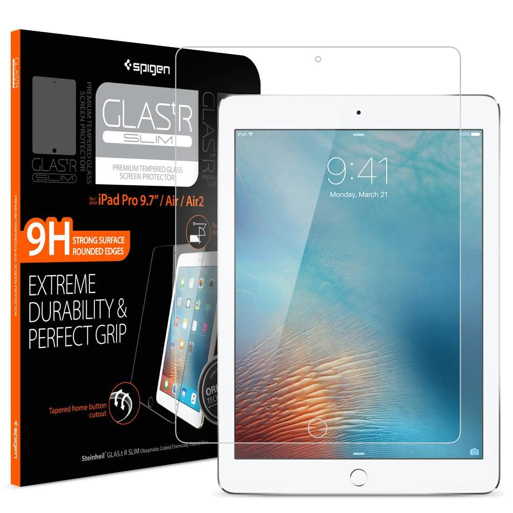 "SPIGEN - iPad 9.7"" (2018/2017) Screen Protector GLAS.tR SLIM (044GL20339)"