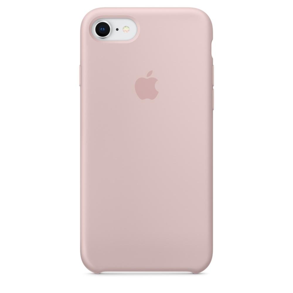 Originální silikonový kryt Apple iPhone 8 / 7 - Pískově růžový