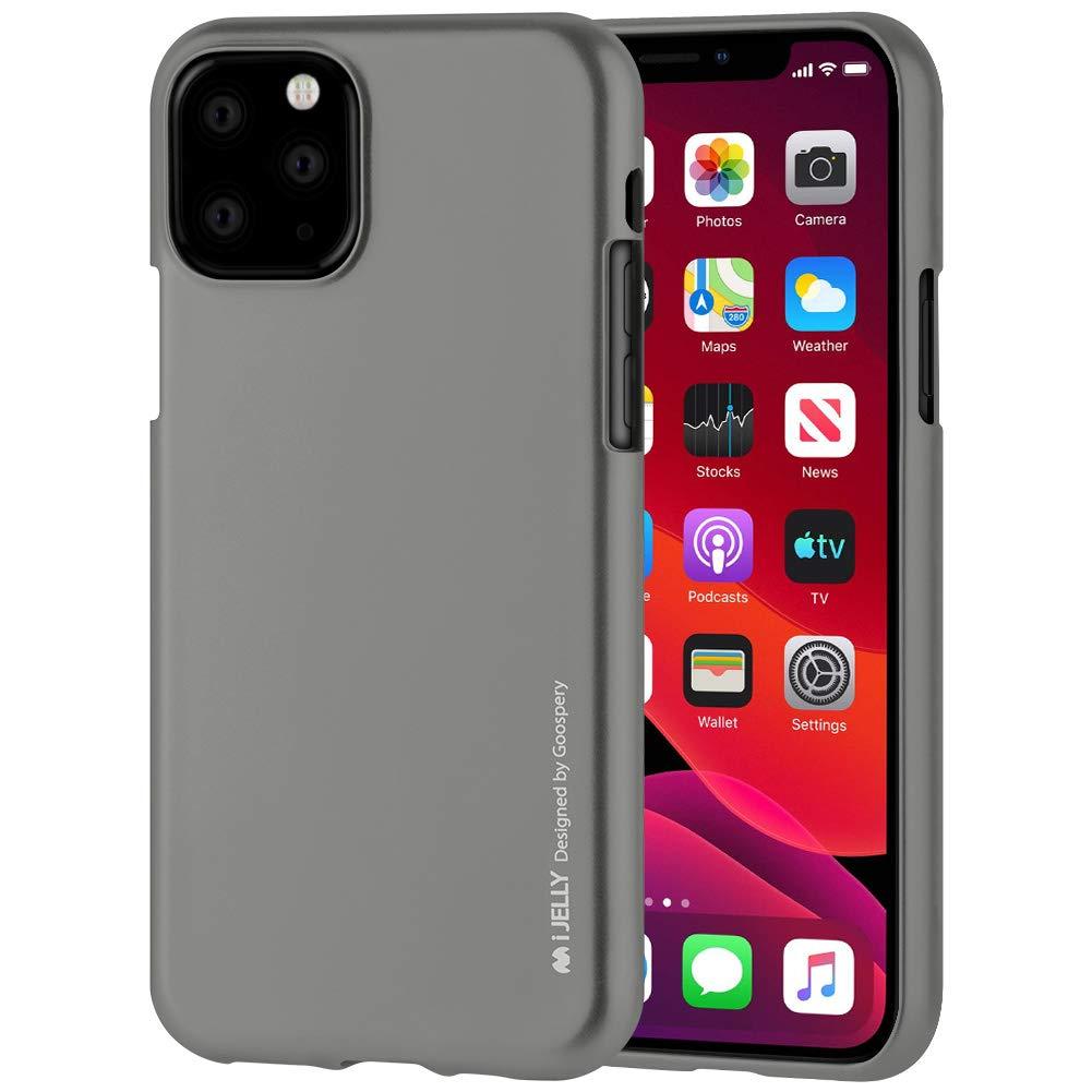Pouzdro Mercury i-Jelly Metal iPhone 11 Pro - Šedý