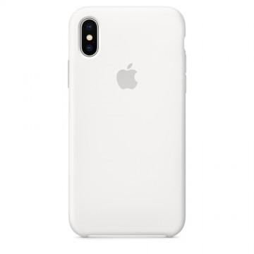 Originální silikonové pouzdro Apple iPhone X - Bílé / White