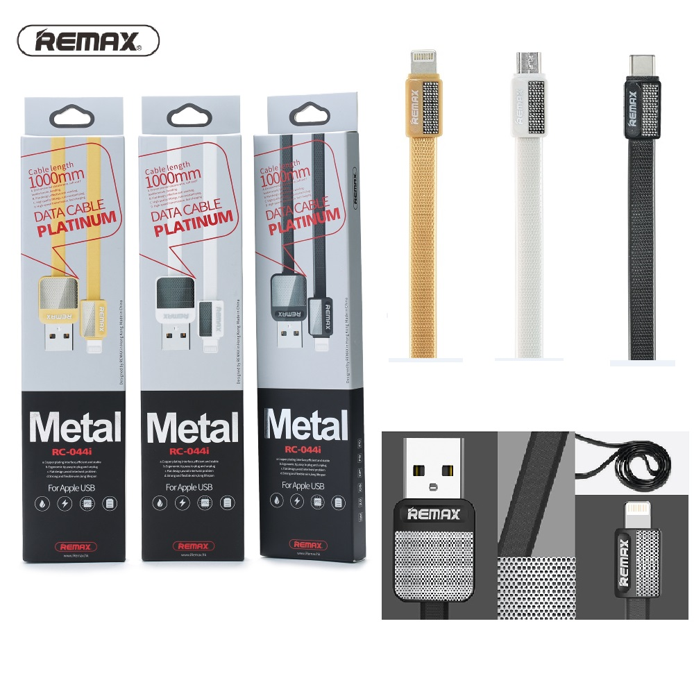 Datový a nabíjecí USB kabel REMAX Metal RC-044a s USB Type-C