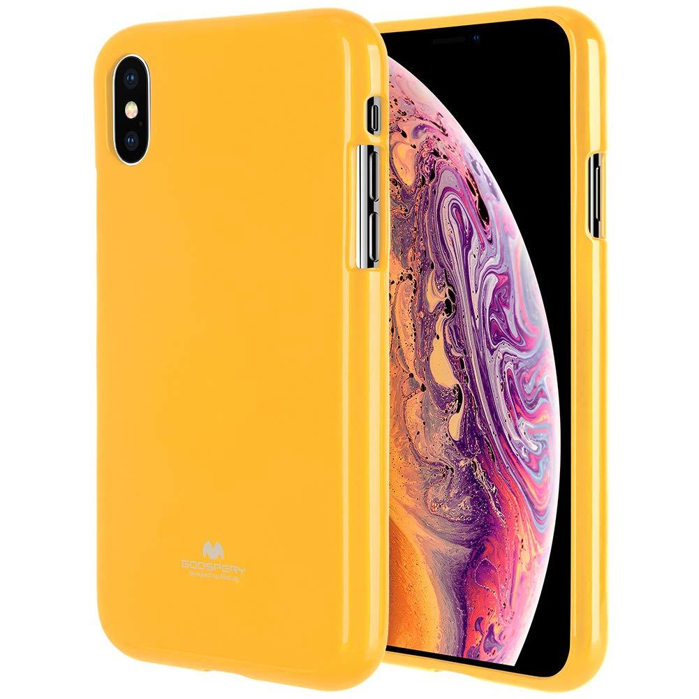 Pouzdro Mercury Pearl Jelly Case iPhone XS MAX - Žlutý